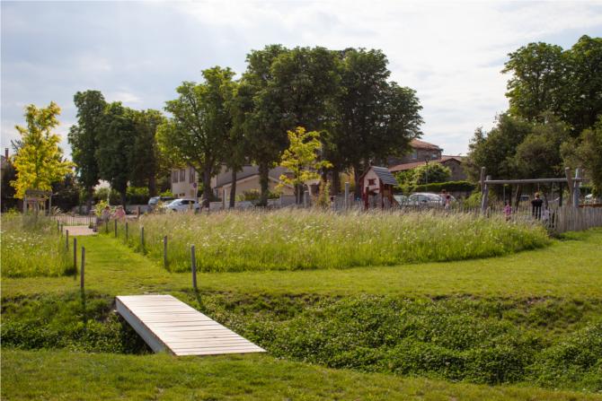 Parc Clos Souchon, Beauvallon (69), 2017, archi. Ménard Paysage & Urbanisme